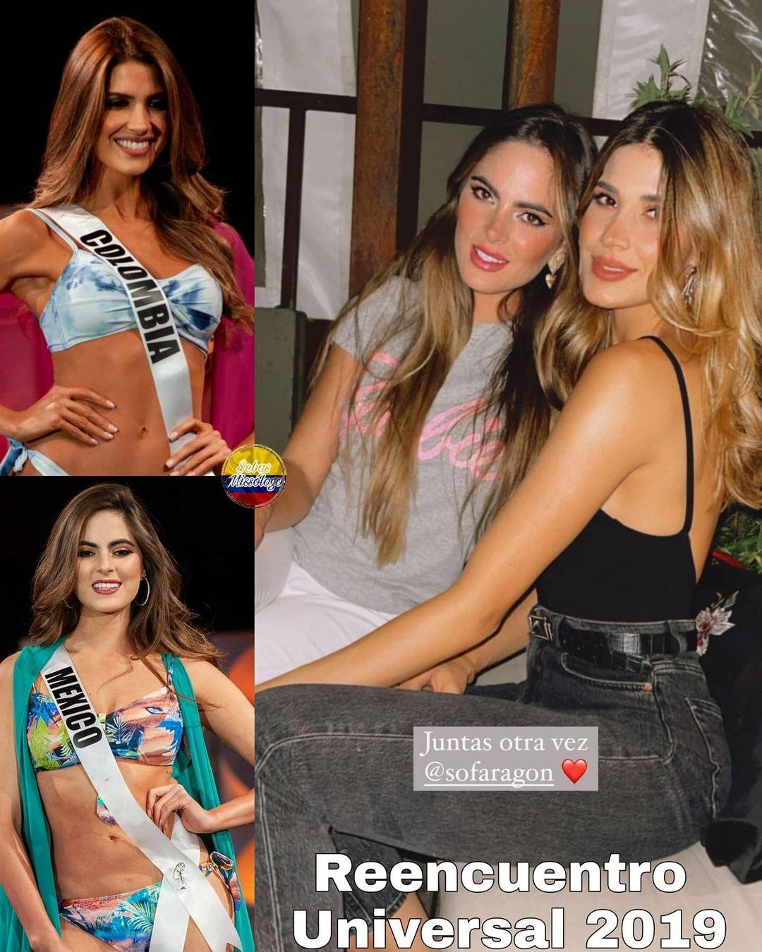 Nuestra Srta. Colombia 2019 y Top5 de Mis Universo 2019 Gabriela Tafur se reencuentra con la Miss Mexicana Universal 2019 y Top3 de Miss Universo 2019 Sofia Aragon en tierras mexicana durante sus vacaciones H2b3qtoi