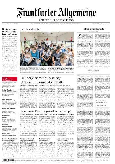Frankfurter Allgemeine Zeitung vom 29 Juli 2021