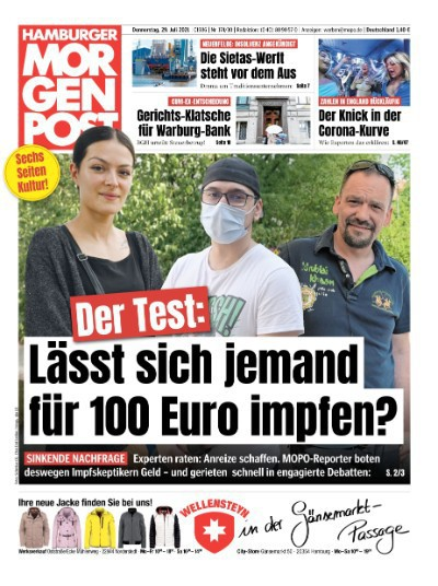 Hamburger Morgenpost vom 29 Juli 2021
